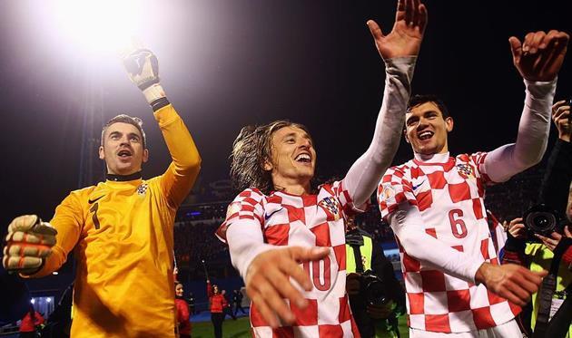 Лука Модрич (№10) и Деян Ловрен (№6), Getty Images