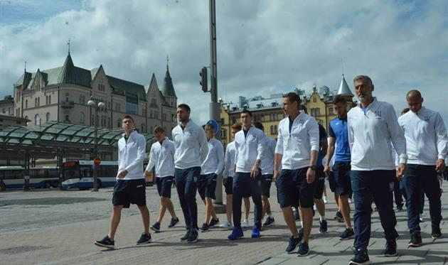 Прогулка сборной Украины по Тампере, фото пресс-службы ФФУ