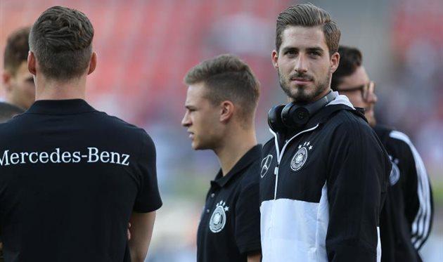 Кевин Трапп в рядах сборной Германии, getty images