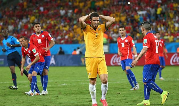 В последней очной встрече со сборной Чили Австралия уступила - 1:3, Getty Images