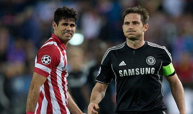Диего Коста (слева) и Фрэнк Лампард, Getty Images