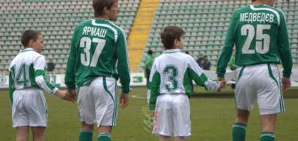 С мальчиками футболисты команд выходил впервые в истории Полтавы
