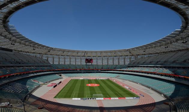 Олимпийский стадион в Баку, twitter.com/UEFA