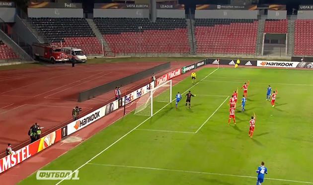 Скендербеу - Динамо, фото: скриншот