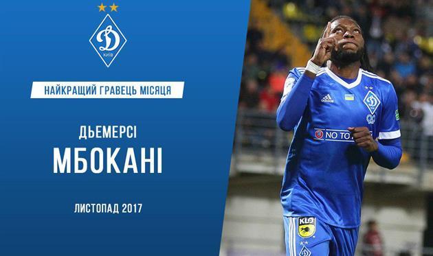 Мбокани — лучший игрок Динамо в ноябре