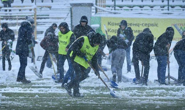 Матч львовской и донецкой команды отменили из-за погодных условий, фото: ФК Олимпик