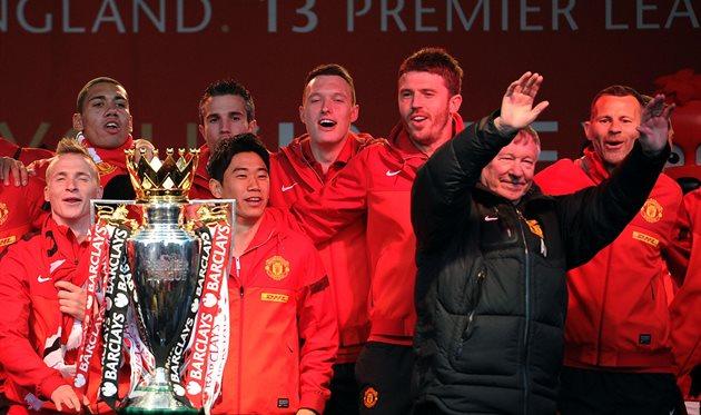 Сэр Алекс Фергюсон выиграл с МЮ последний чемпионский титул в 2013 году, Getty Images