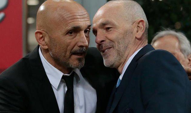 Лучано Спаллетти и Стефано Пьоли рады встрече и готовы к битве, Getty Images