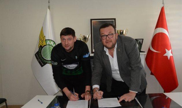 Евгений Селезнев (слева), akhisarspor.com.tr