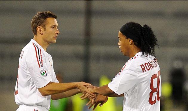 Андрей Шевченко и Роналдиньо, Getty Images