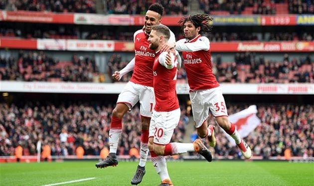 радость игроков Арсенала, getty images