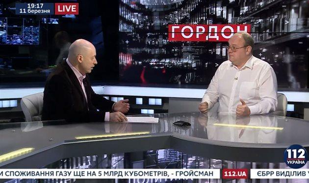 Дмитрий Гордон и Артем Франков, фото: Скриншот