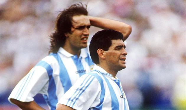 Габриэль Батистута и Диего Марадона, Getty Images