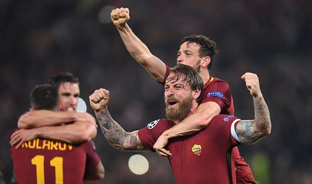 Рома после матча с Барселоной, getty images