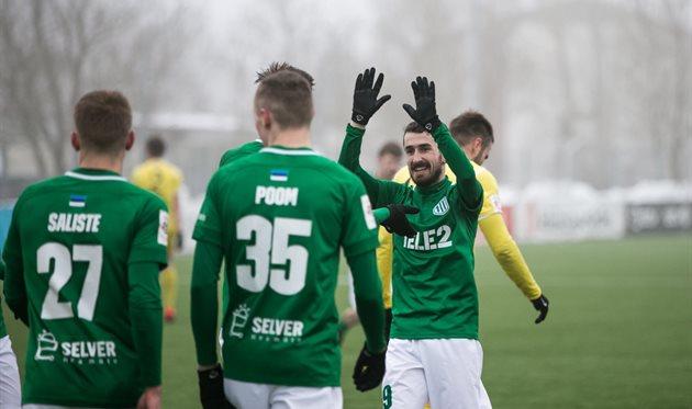В полуфиналы Кубка Эстонии пробились Флора и Флора U-21