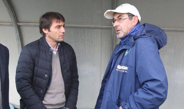 Антонио Конте и Маурицио Сарри, фото: Quotidiano