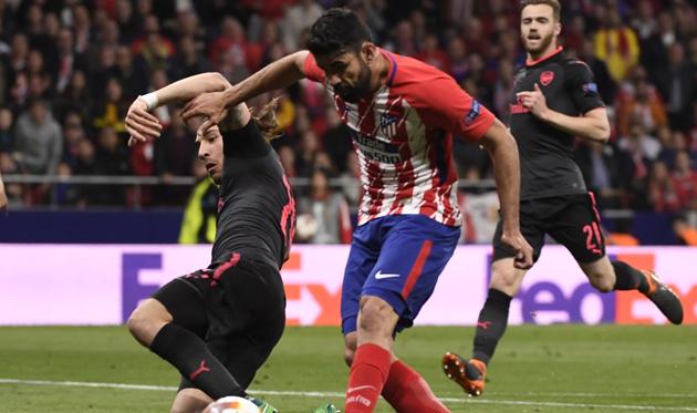 Диего Коста забил единственный гол в матче, twitter.com/EuropaLeague