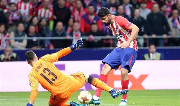 Гол Диего Косты в ворота Арсенала вывел Атлетико в финал Лиги Европы, фото twitter.com/Atleti