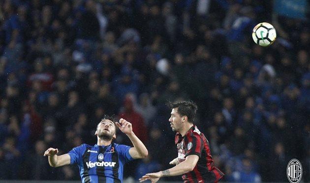 Аталанта и Милан сыграли вничью, twitter.com/acmilan
