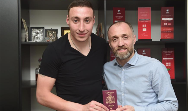Заури Махарадзе теперь может выступать за сборную Грузии, фото Федерации футбола Грузии