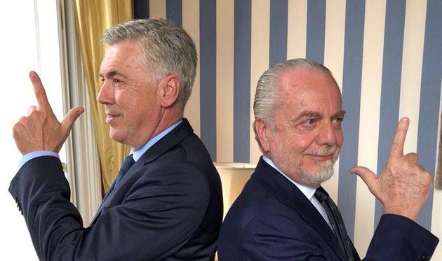 Карло Анчелотти и Аурелио Де Лаурентис уже выбрали первые цели, фото ФК Наполи