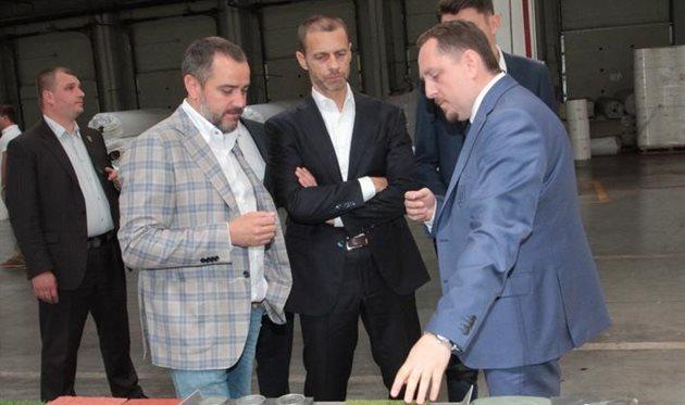 Чеферин: Мой друг Андрей Павелко и ФФУ проводят большую работу и могут надеяться на отличные результаты