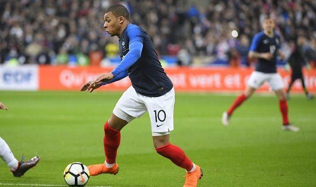 килиан мбаппе - автор забитого гола в составе сборной франции, twitter.com/equipedefrance