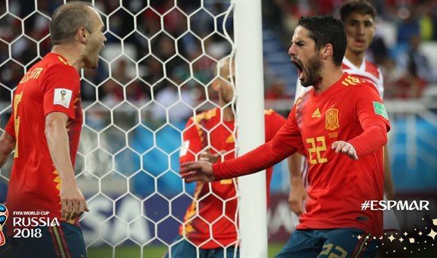 Испания — Марокко 2:2 Видео голов и обзор матча ЧМ-2018