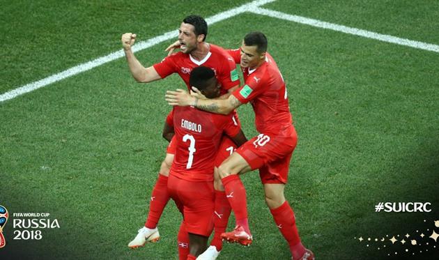 Швейцария — Коста-Рика 2:2 Видео голов и обзор матча ЧМ-2018