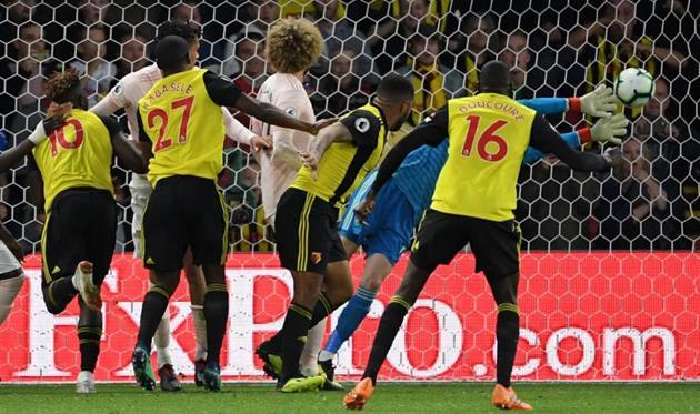 Один из сейвов Де Хеа в матче с Уотфордом, Getty Images