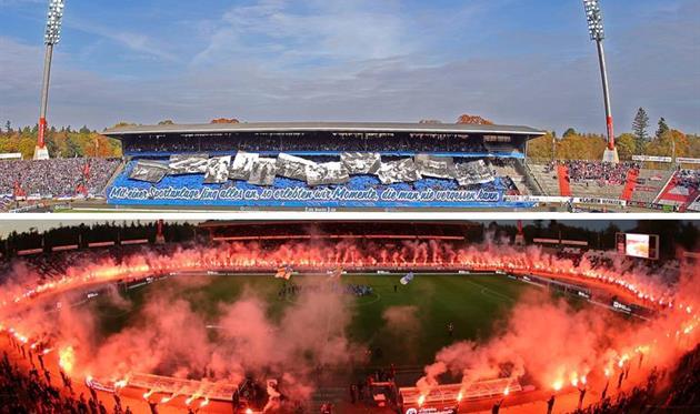Стадион в огне: Как прощались с ареной в Карлсруэ