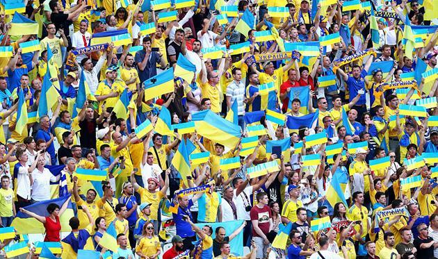 Болельщики сборной Украины, Getty Images