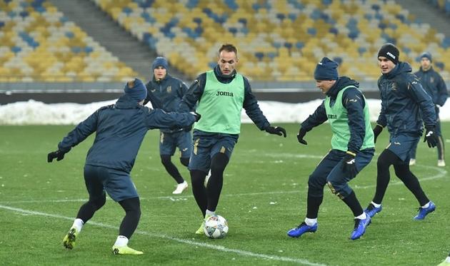 Тренировка сборной Украины, фото: ФФУ