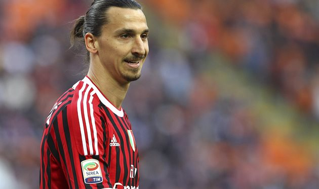 Златан Ибрагимович времен игры за Милан, Getty Images