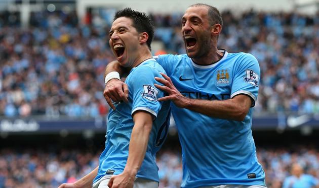 Насри и Сабалета играли вместе за Манчестер Сити, Getty Images