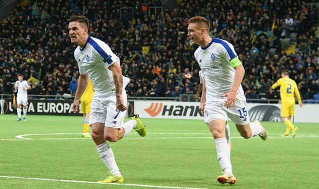 Беньямин Вербич (слева) забил единственный гол, фото: ФК Динамо