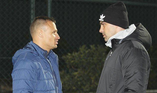 Вячеслав Шевчук и Горан Саблич, фото ФК Олимпик