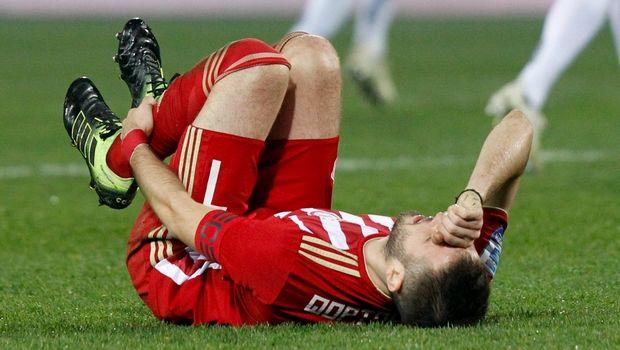 Капитан Олимпиакоса травмировался перед матчем с Динамо