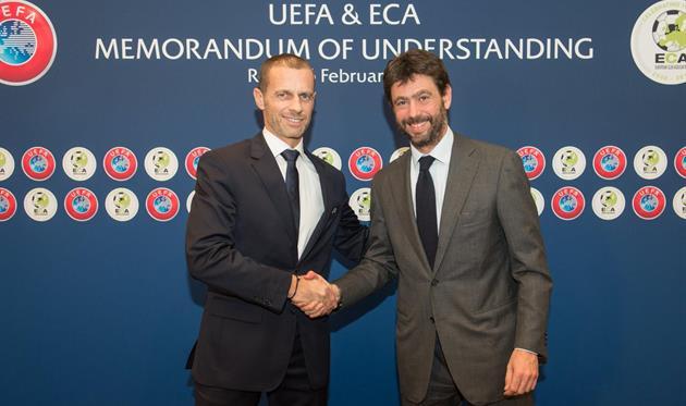Европейский футбольный союз и Европейская ассоциация клубов уже подписали меморандум о взаимопонимании, фото Европейской ассоциации клубов