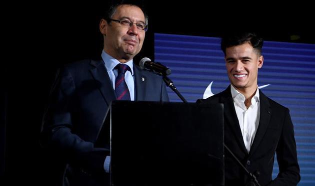 Хосеп Мария Бартомеу (слева) и Филиппе Коутиньо (справа), Getty Images