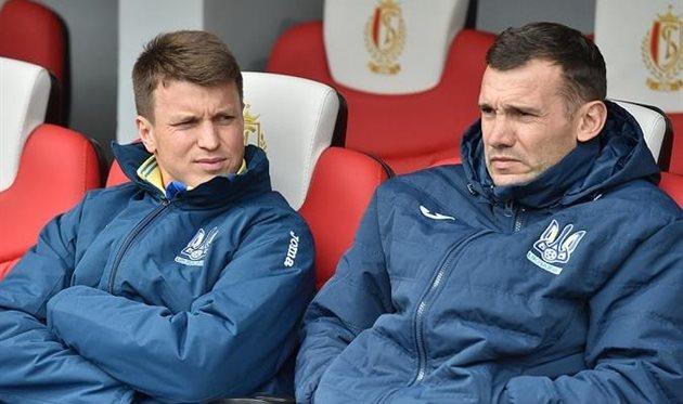 Ротань и Шевченко, фото ФФУ