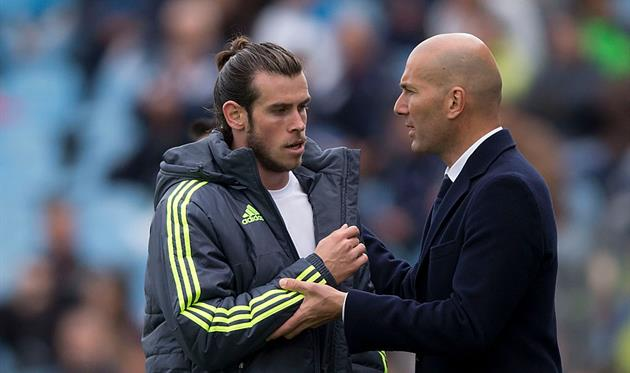 Bale and Zidane, getty images
