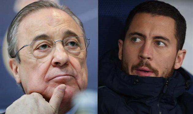 Флорентино Перес (слева) и Эден Азар (справа), Getty Images/Football.ua