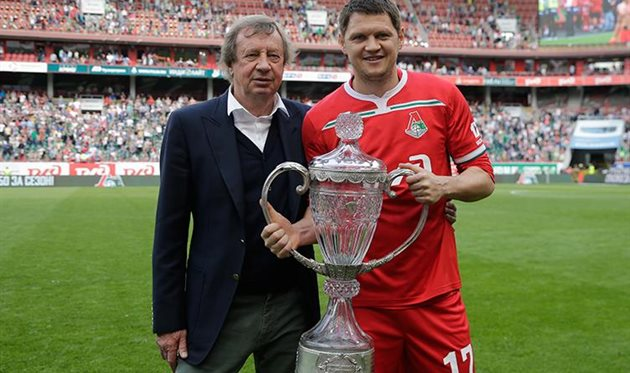 Юрий Семин (слева) и Тарас Михалик (справа), фото ФК Локомотив Москва