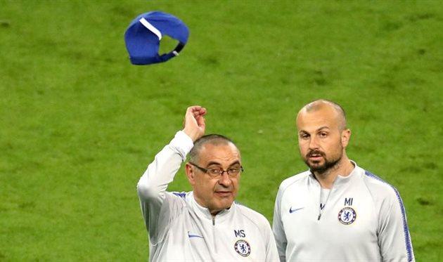 Маурицио Сарри (слева)