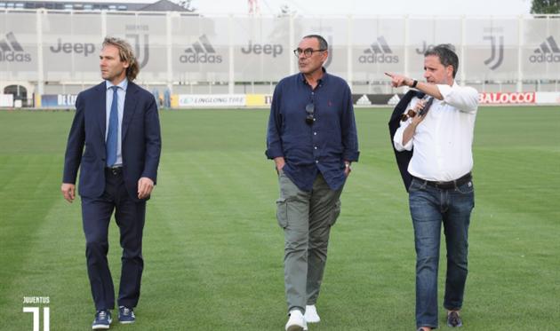 Павел Недвед, Маурицио Сарри и Фабио Паратичи, фото ФК Ювентус
