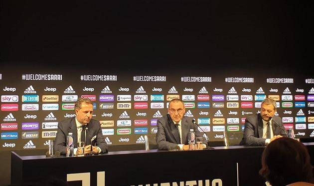 Маурицио Сарри (в центре), фото ФК Ювентус