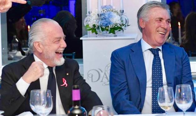 Аурелио Де Лаурентис и Карло Анчелотти, фото ФК Наполи