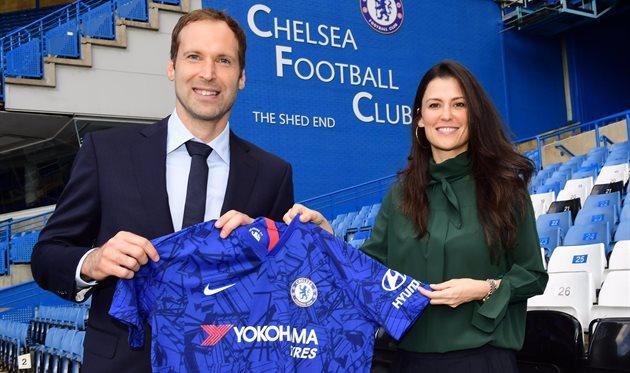 Петр Чех и Марина Грановская, photo Chelsea FC