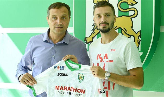 Сергей Вакуленко (справа), фото фк Карпаты